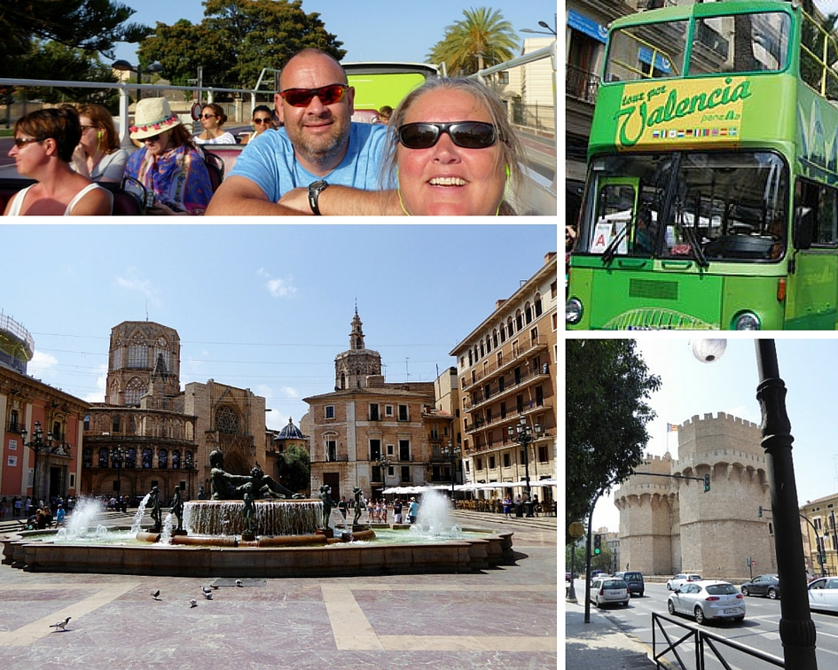 Valencia hop on hop off bus tour collage