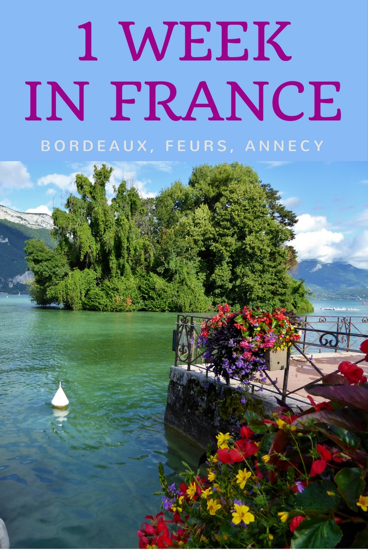 1 week in France-Bordeaux-Feurs-Annecy. An 8 week family road trip in Europe. Read more on WagonersAbroad.com