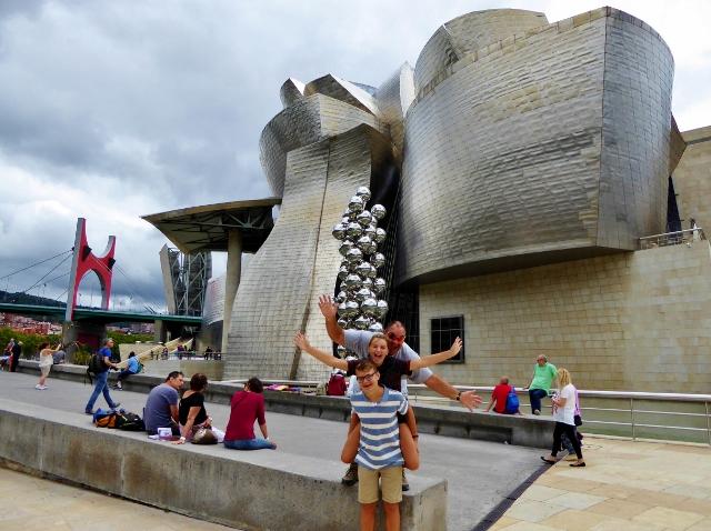 Guggenheim Bilbao Basque Country Spain fun outside
