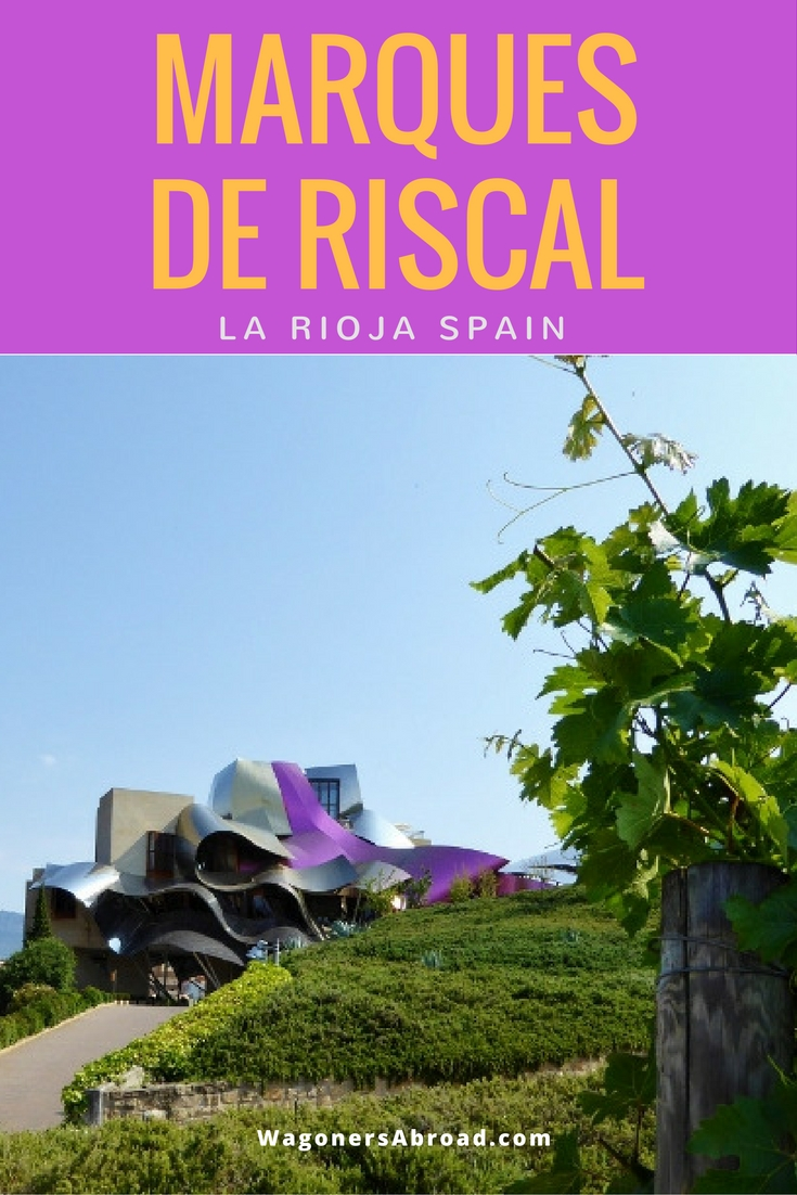 Marques de Riscal Winery, Hotel, Spa in La Rioja Spain. Read more on WagonersAbroad.com