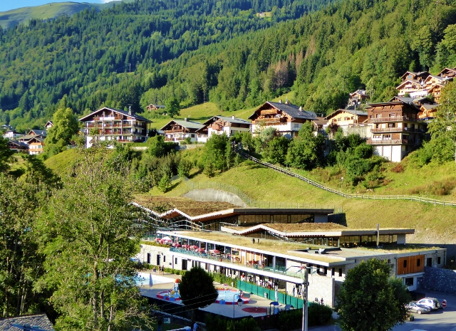 Morzine public swimming pool summer