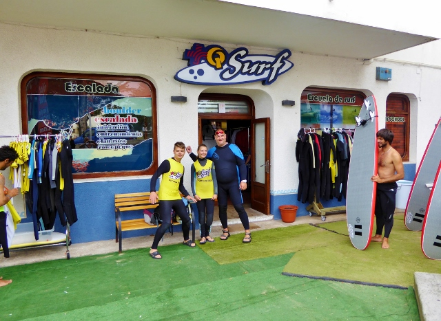 We'd like to thank QSurf (Mas Que Surf School) and Trip4Real Surfing lessons Cantabria Spain Loredo