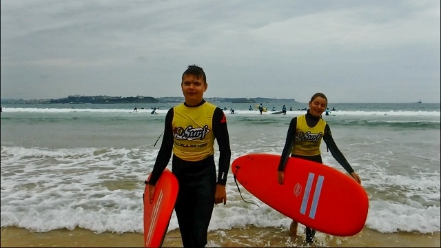 Surfing Champion. Lars is all smiles because he got up.