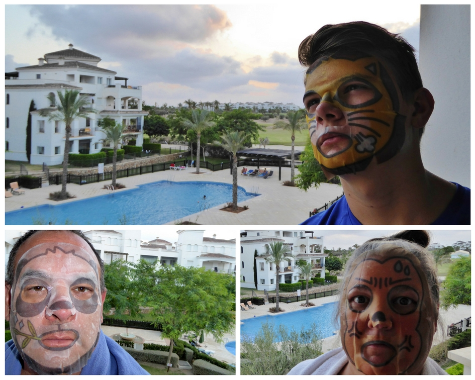 The final night of our European Road Trip. Sephora Face mask fun Murcia Spain