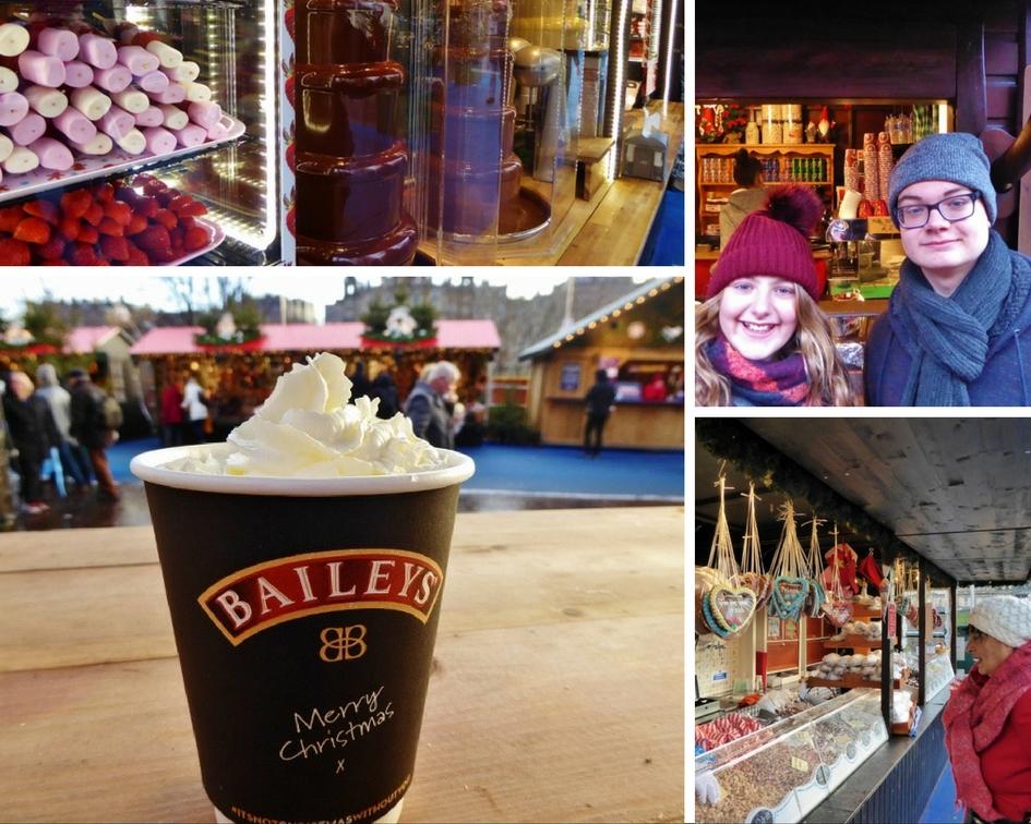 Edinburgh Christmas treats collage