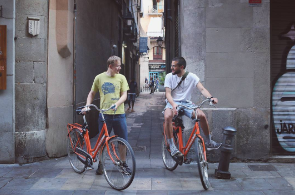 Barcelona by bike - City center - Las Ramblas