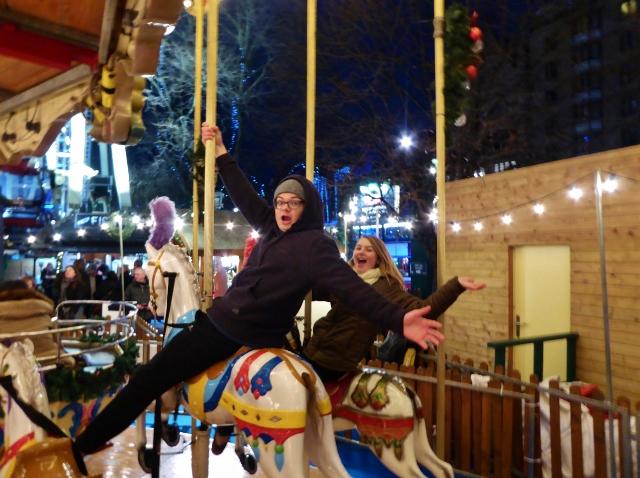 Edinburgh Chirstmas Market and Rides Princes Street double Carousel