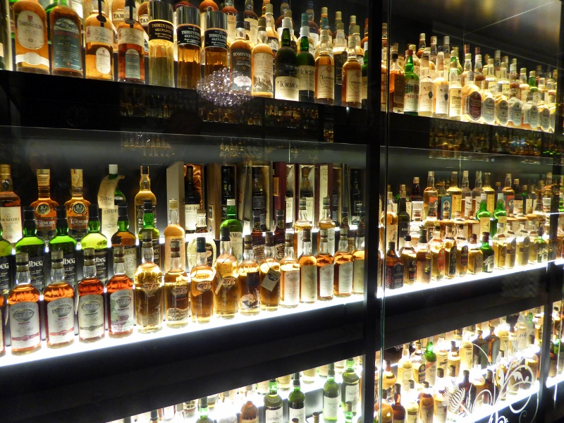 The Scotch Whisky Experience Edinburgh Christmas- whisky collection