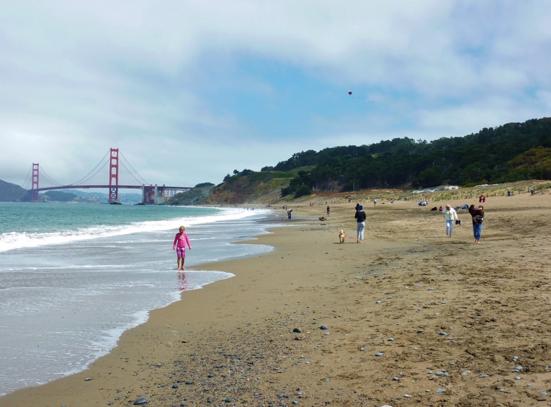 San Francisco with family August 2011 Baker Beach, the Presidio and amazing nature of San Francisco