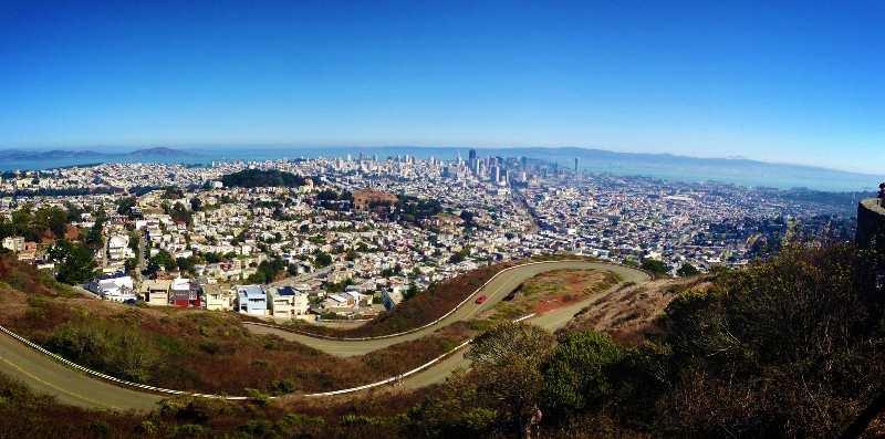 View of San Francisco from Twin Peaks. The Wow View! image source https://upload.wikimedia.org/wikipedia/commons/a/a0/View_of_San_Francisco_from_the_top_of_the_Twin_Peaks.png