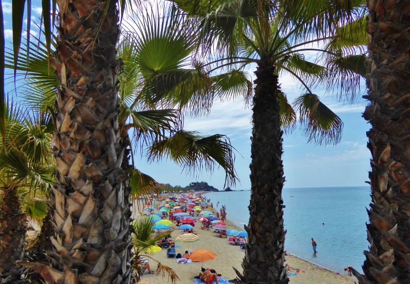 San Cristobal Beach view in the summer. An Almuñécar Summer - We Are Going Local!