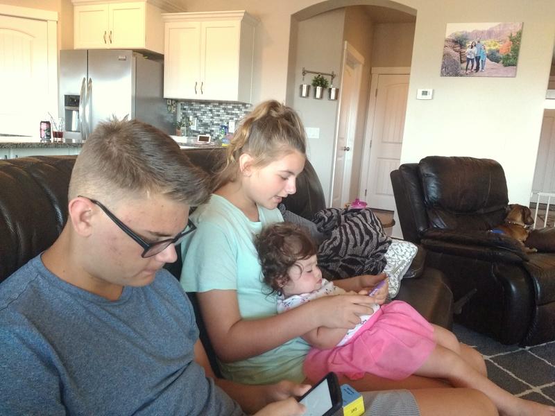 Anya reading to Ellie