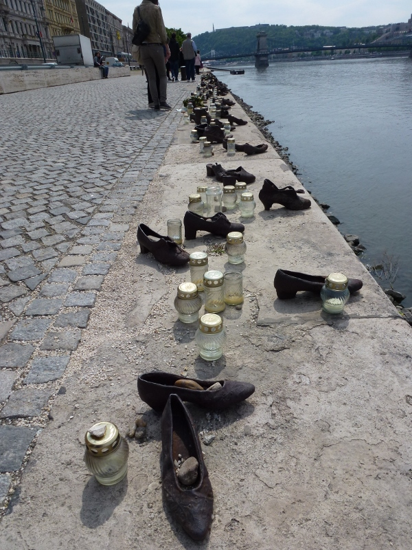 Shoes On The Danube Promenade Budapest Hungary Wagoners Abroad
