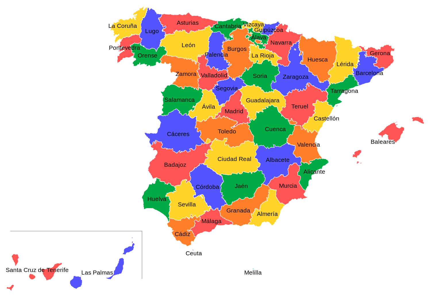 Facts For Spain & Maps Of Spain - Wagoners Abroad
